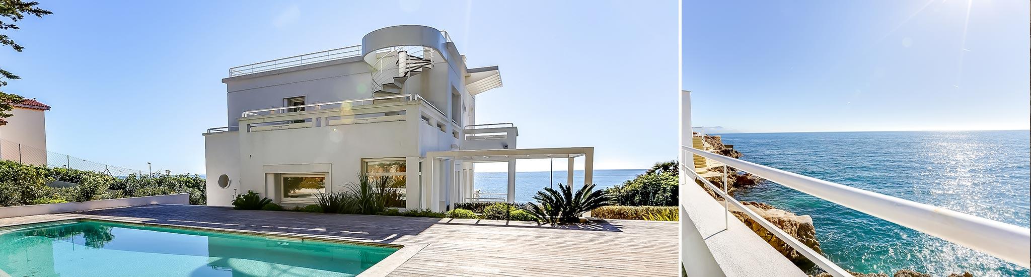 CAP D'ANTIBES - 06400 Exceptionnelle propri�t� 'Pieds dans l'eau' au Cap d'Antibes.  Villa d...