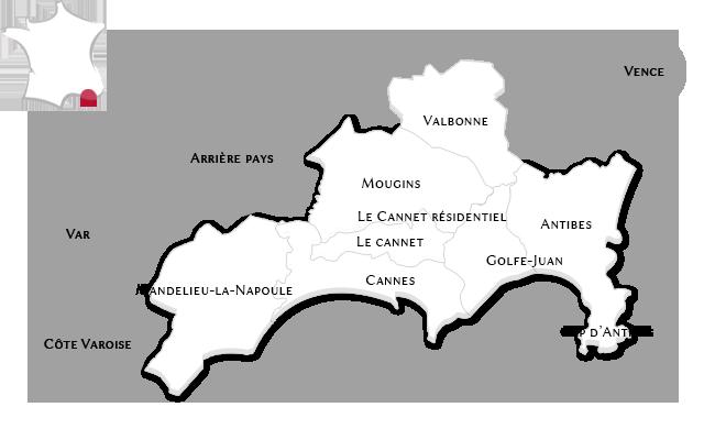 Las propiedades de lujo en Cannes y su region