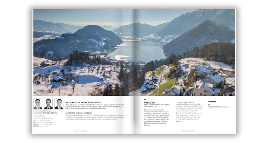 The new Autumn-Winter of our magazine BARNES Luxury Homes Swiss Edition is available.