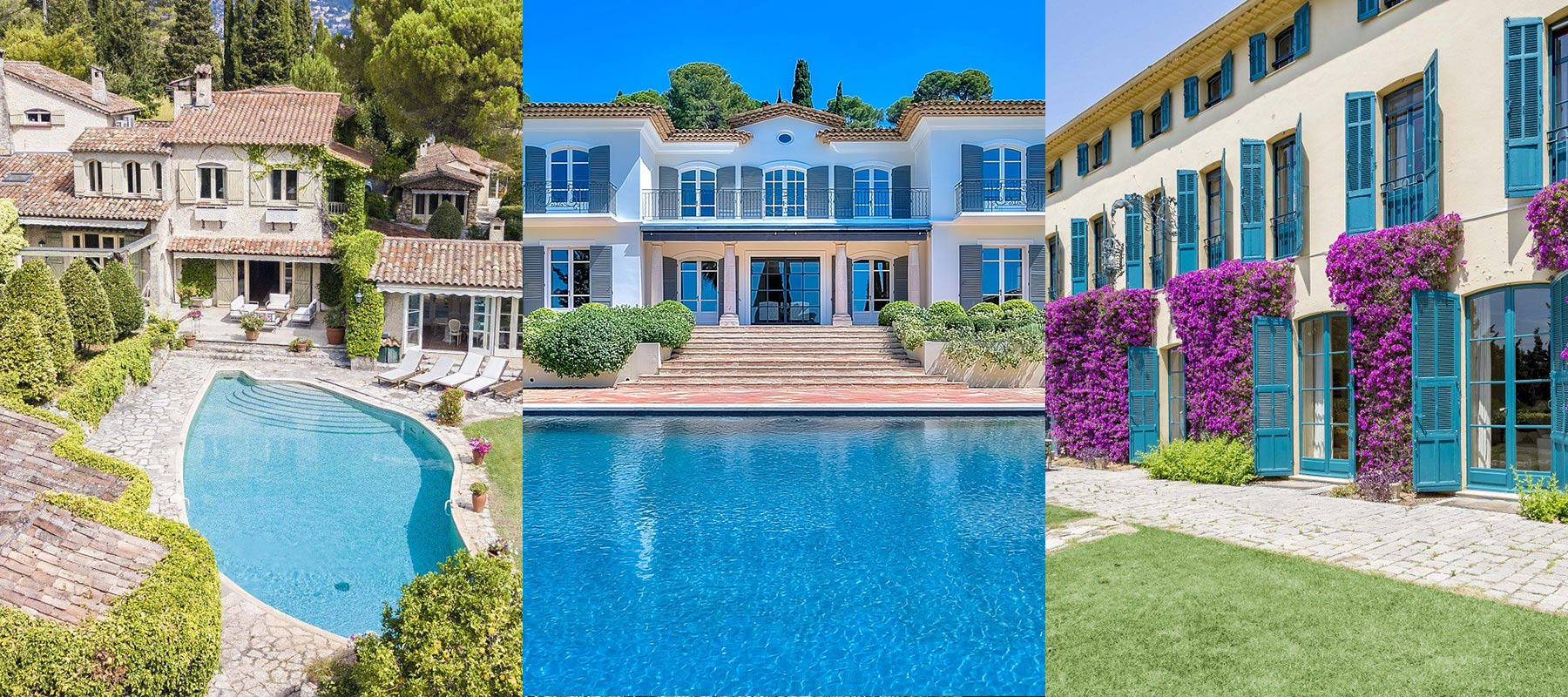 Propriétés de luxe à Cannes